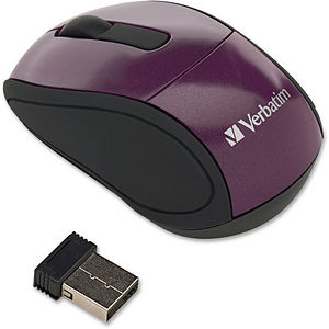 Verbatim 97473 Wireless Mini Travel Optical Mouse - Purple