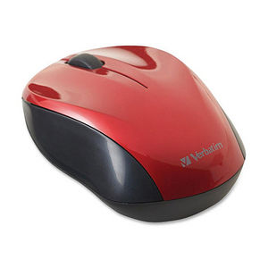 Verbatim 97669 Wireless Nano Notebook Optical Mouse - Red