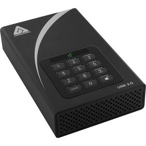 "Apricorn ADT-3PL256-2000 Aegis Padlock 2 TB 3.5"" External Hard Drive"
