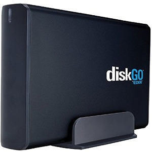 "EDGE PE233044 DiskGO 2 TB Hard Drive - 3.5"" Drive - External - Desktop - Black"