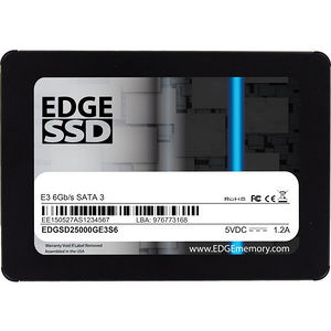 "EDGE PE246525 E3 500 GB Solid State Drive - SATA (SATA/600) - 2.5"" Drive - Internal"