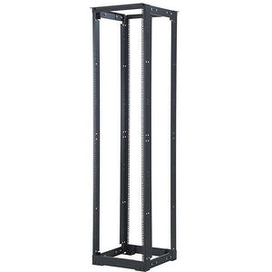 C2G 14592 45U 4-Post Adjustable Open Frame Rack with M6 Rails - 21-32in Depth - TAA