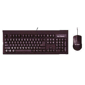 KeyTronic TAG-A-LONG-U2 Wired USB Keyboard & Optical Mouse Combo