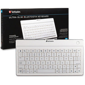Verbatim 97754 Ultra Slim Bluetooth White Keyboard