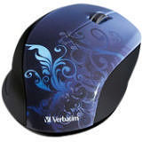 Verbatim 97785 Wireless Notebook Optical Mouse, Design Series - Blue