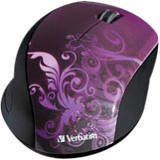 Verbatim 97783 Wireless Notebook Optical Mouse, Design Series - Purple