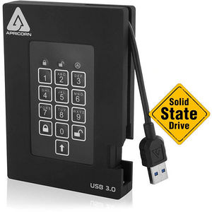 Apricorn A25-3PL256-S512F Aegis Padlock 512 GB External Solid State Drive