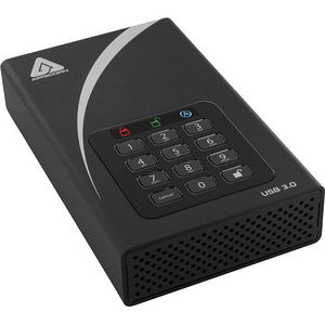 Apricorn ADT-3PL256-6000 Aegis Padlock DT 6 TB Hard Drive - External - Desktop