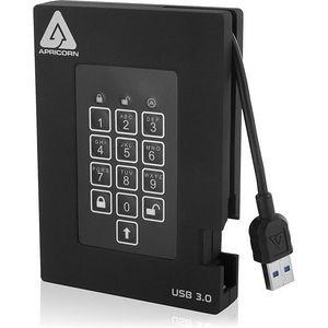 Apricorn A25-3PL256-2000F Aegis Padlock Fortress 2 TB Hard Drive - External - Portable