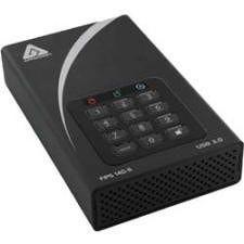 "Apricorn ADT-3PL256F-4000 Aegis Padlock DT FIPS 4 TB Hard Drive - 3.5"" Drive - External - Desktop"