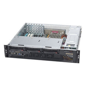 Supermicro CSE-825MTQ-R700LPB 2U Server Chassis - Rack-mountable - Black