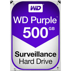 "WD WD05PURZ Purple 500GB 5400RPM 3.5"" SATA 64 MB Cache Surveillance Hard Drive"